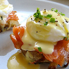 Eggs benedict with salmon at Third Place Cafe