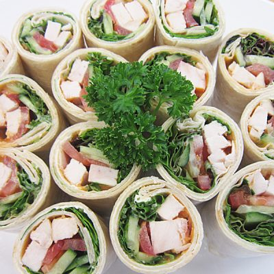 Smoked salmon wraps at Third Place Cafe