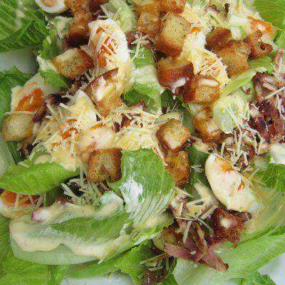 Large caesar salad at Third Place Cafe