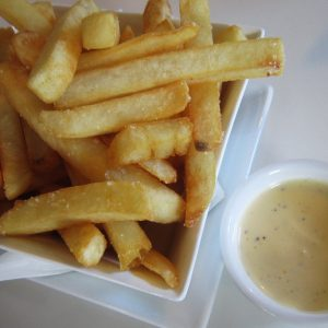 Small chips with aioli at Third Place Cafe