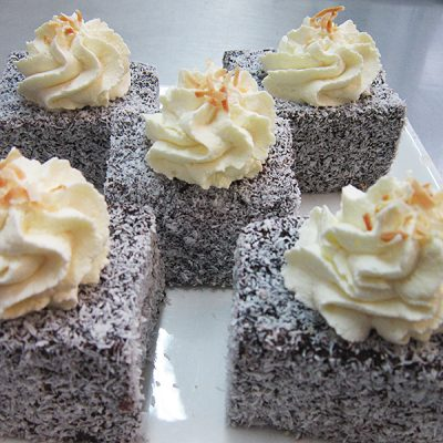 Chocolate lamingtons at Third Place Cafe