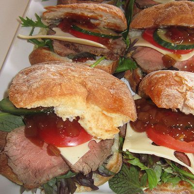 Roast beef ciabatta pocket at Third Place Cafe