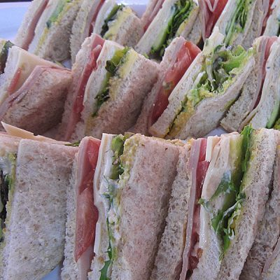Club sandwich at Third Place Cafe