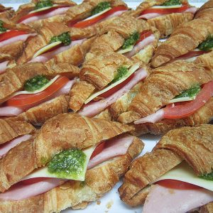 Ham, pesto and tomato crossiants at Third Place Cafe
