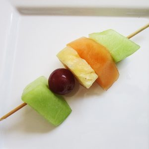 Small fruit kebab at Third Place Cafe