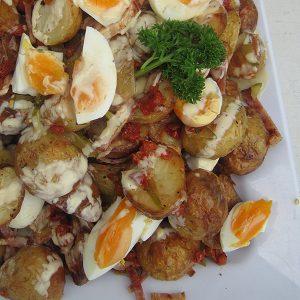 Gourmet potato platter at Third Place Cafe