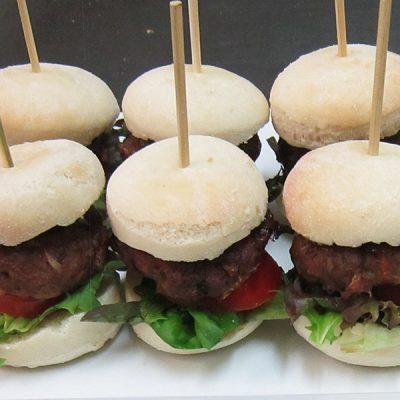 Mini burgers at Third Place Cafe