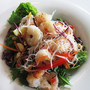 Prawn salad at Third Place Cafe
