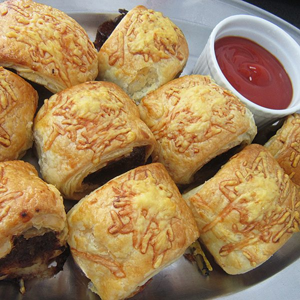 Sausage rolls at Third Place Cafe