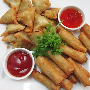 Spring rolls at Third Place Cafe