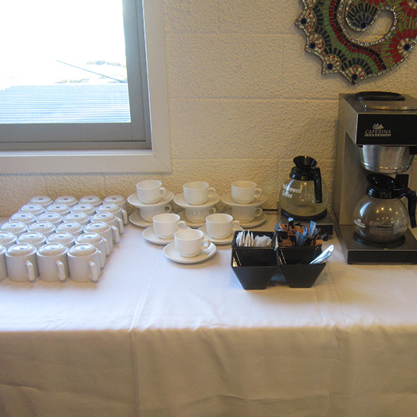 Tea and coffee station for function at Third Place Cafe