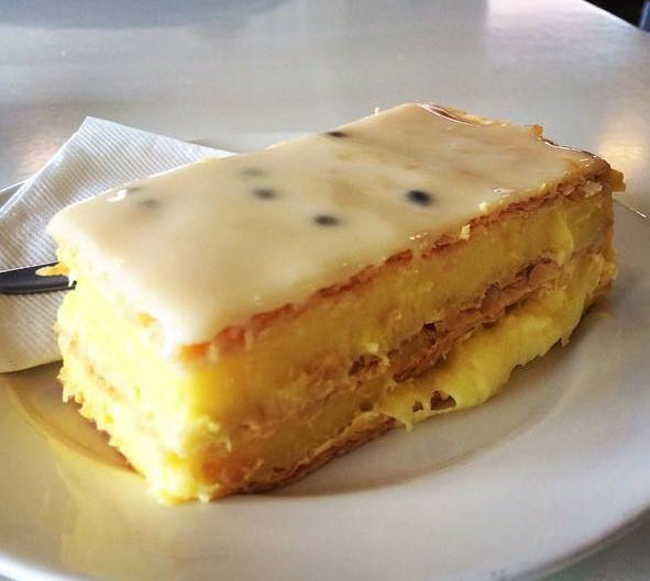 Custard slice at Third Place Cafe